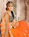 photo of Orange Color Festive Wear Designer Saree In Net And Georgette Fabric