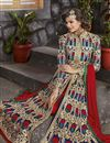 photo of Party Wear Embroidered Blue Color Designer Art Silk Fabric Salwar Suit