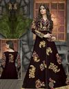 photo of Marvelous Brown Color Embroidered Designer Georgette Fabric Salwar Suit