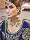 photo of Function Wear Banarasi Silk Designer Weaving Work Saree With Heavy Blouse In Green