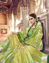 photo of Banarasi Silk Function Wear Yellow Designer Weaving Work Saree With Heavy Blouse