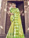 image of Banarasi Silk Function Wear Yellow Designer Weaving Work Saree With Heavy Blouse