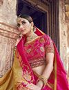 photo of Function Wear Banarasi Silk Golden Color Designer Weaving Work Saree With Heavy Blouse