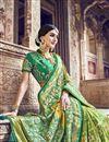 photo of Function Wear Sea Green Designer Banarasi Silk Weaving Work Saree With Heavy Blouse