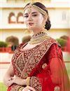 photo of Sangeet Wear Maroon Designer Embellished Velvet Fabric Lehenga Choli