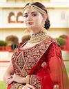 photo of Maroon Wedding Function Wear Fancy Lehenga Choli In Velvet Fabric