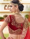 picture of Sangeet Wear Maroon Designer Embellished Velvet Fabric Lehenga Choli