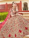 photo of Art Silk Fabric Wedding Function Wear Fancy Lehenga Choli In Cream
