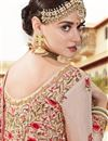 picture of Art Silk Fabric Wedding Function Wear Fancy Lehenga Choli In Cream