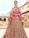 image of Art Silk Fabric Wedding Function Wear Fancy Lehenga Choli In Cream