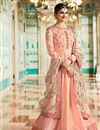 image of Prachi Desai Art Silk Embroidered Anarkali Suit In Salmon Color