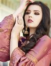 photo of Designer Pink Embroidered Sharara Salwar Suit In Satin Fabric