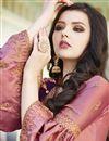 photo of Satin Fabric Designer Pink Embroidered Sharara Salwar Suit