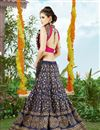 picture of Embroidered Silk fabric festive Wear Lehenga Choli in Navy Blue Color