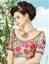 photo of Off White Color Embroidered Designer Silk Lehenga Choli