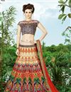 image of Multi Color Wedding Wear Silk Designer Lehenga Choli