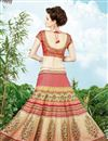 picture of Festive Wear Cream Color Embroidered Lehenga Choli in Silk Fabric