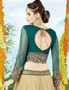 picture of Embroidered Net fabric festive Wear Lehenga Choli in Beige Color