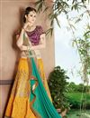 image of Festive Wear Mustard Color Silk Lehenga Choli with Embroidery