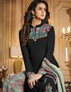 photo of Georgette Fancy Black Printed Function Wear Designer Palazzo Dress