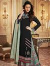 image of Georgette Fancy Black Printed Function Wear Designer Palazzo Dress