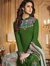 photo of Fancy Printed Green Function Wear Designer Palazzo Suit In Georgette