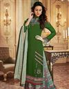 image of Fancy Printed Green Function Wear Designer Palazzo Suit In Georgette