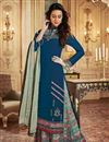 image of Georgette Function Wear Printed Designer Palazzo Dress In Teal