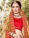 photo of Weaving Work Beige Function Wear Art Silk Saree With Fancy Blouse