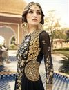 photo of Long Length Georgette Fabric Anarkali Salwar Suit With Embroidery In Black Color