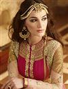 photo of Designer Pink Color Anarkali Salwar Suit With Diamond Work In Georgette Fabric