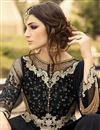 photo of Black Color Long Length Designer Salwar Suit With Diamond Work In Georgette Fabric