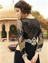 picture of Georgette Fabric Embroidered Designer Salwar Suit In Black Color