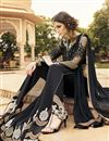 photograph of Black Color Long Length Designer Salwar Suit With Diamond Work In Georgette Fabric