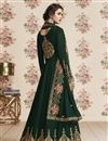 photo of Dark Green Embroidered Georgette Function Wear Designer Floor Length Anarkali
