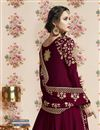 photo of Maroon Designer Georgette Function Wear Embroidered Anarkali Suit
