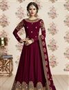 image of Maroon Designer Georgette Function Wear Embroidered Anarkali Suit