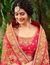 photo of Embroidery Work On Rani Fancy Designer Saree With Blouse