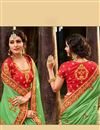 photo of Green Fancy Fucntion Wear Saree With Embroidery Work