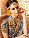 photo of Grey Color Wedding Wear Designer Fancy Fabric Embroidered Saree