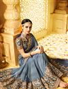 picture of Grey Color Wedding Wear Designer Fancy Fabric Embroidered Saree