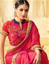 photo of Pink Color Wedding Wear Designer Fancy Fabric Embroidered Saree