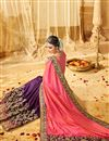 photo of Designer Purple And Pink Color Wedding Wear Fancy Fabric Saree With Alluring Work