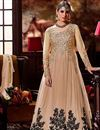 image of Wedding Special Embroidered Long Floor Length Anarkali Dress in Net
