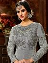 photo of Wedding Special Art Silk Embroidered Function Wear Anarkali Salwar Kameez