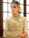 photo of Wedding Special Crepe Embroidered Designer Long Anarkali Suit in Cream