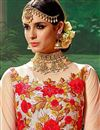 photo of Wedding Special Art Silk Embroidered Designer Long Anarkali Suit in Beige
