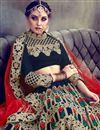 photo of Eid Special Fancy Embellished Velvet Black Wedding Function Wear Lehenga
