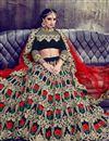 picture of Eid Special Fancy Embellished Velvet Black Wedding Function Wear Lehenga