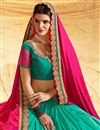 photo of Chiffon And Georgette Embellished Half Half Function Wear Saree